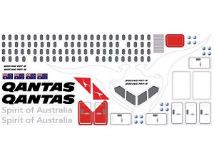 787 Dreamliner Scale Qantas Decal Stickers