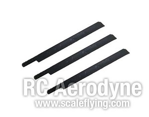 Semi Symmetrical 600mm Scale Rotor Blades - Pack of 3
