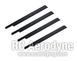Semi Symmetrical 600mm Scale Rotor Blades - Pack of 4