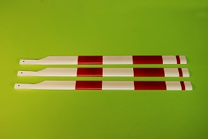 Scale Carbon Fiber Rotorblades 700mm AS350 Set of 3