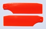 Tail Blade Set Trex 450 Pro Neon Orange 61mm