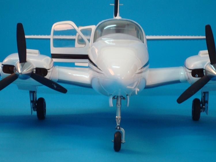 "1//4.2 Scale R//c Plane Beechcraft BARON 58P Laser Cut Short Kit /& Plans 85/""ws"