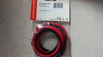 HYPERION HIGH QUALITY SILICONE WIRE. SET OF RED-BLACK, 1-METER 10AWG WIRE
