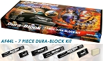 7-Piece Dura-Block Kit (AF4400, AF4401, AF4402, AF4403, AF4404, AF4405) plus FREE Dura-Scrub Soap Bar - AF44L