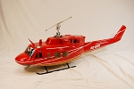 NEW ITEM: Bell 212 Red and Gold (600 size) Scale Fuselage - Licensed Bell Helicopter Product