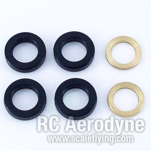 Rubber Damper - Black 80°