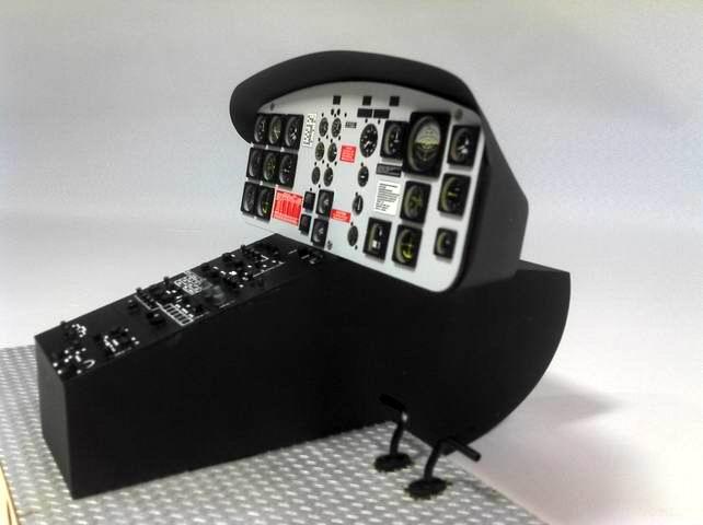 Huey 800 Size Cockpit Gray Panel