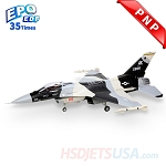 HSDJETS 105mmEDF F-16 Black and white Snow Camo Colors PNP 12S
