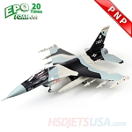 HSDJETS HF-16 Foam Turbine Black Camo Colors PNP