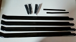 700MM Scale Carbon Fiber 4 Blade Set for Superscale (Swept Back Tip)