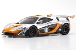 Kyosho - MINI-Z McLaren P1 GTR RTR, Silver/Orange, w/ MR-03 Chassis, RWD