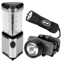 3pc LED Flashlight & Lantern
