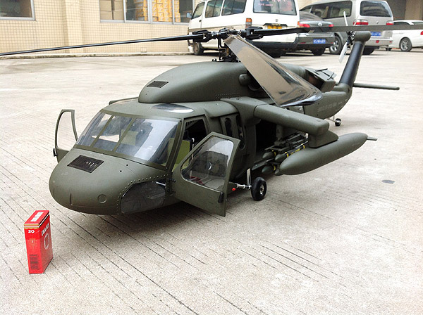 Huey Helicopter For Sale >> 700 Size UH-60 SuperScale(TM) Black Hawk
