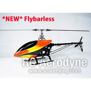Chaos 600 CF Pro Flybarless Kit with Canopy- Torque Tube