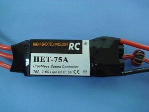 HET 75A Brushless Speed Controller
