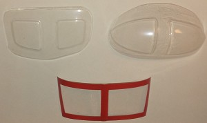 WINDOW SET FOR 450 SIZE UH1 ( COAST GUARD)