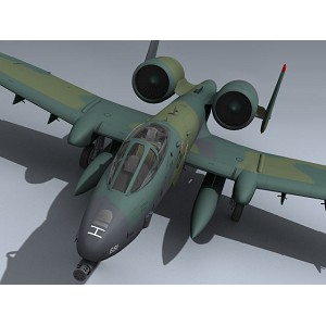 "A-10 Full Composite Super Scale 81"" ARF ( GREEN CAMO ) match box 1 & 2"