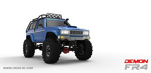 FR4C 1/10 Demon 4x4 Crawler Kit-Lexan SUV Body Full Metal, CNC Rims