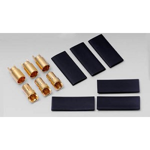 Hyperion 6.0MM Gold Connectors - 12 pair with shrink