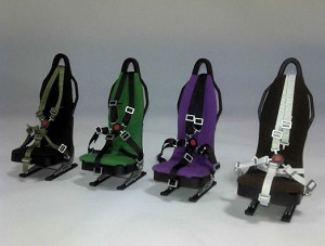 1:8 Scale Seat W/O Seat Belt 4 Colors BROWN
